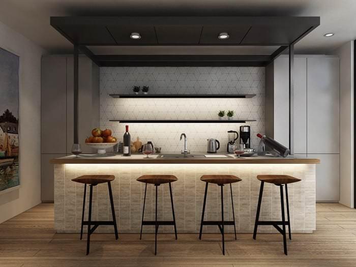Müthiş Modern Mutfak Aydınlatma Örnekleri 8