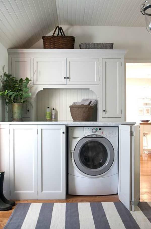 banyoda çamaşır makinesi gizleme