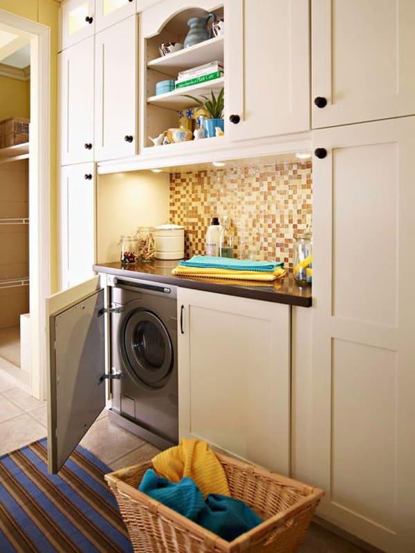 mutfakta çamaşır makinesi gizleme