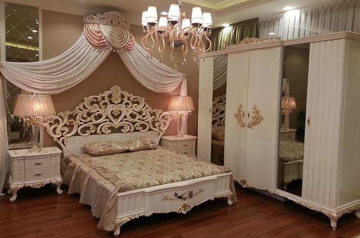 klasik lüks yatak odası dekorasyon