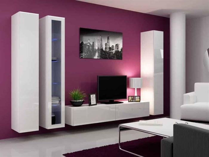 duvar Ünitesi modeli arayanlar İçin modern tasarımlar - beyaz lake duvar unite modeli - Duvar Ünitesi Modeli Arayanlar İçin Modern Tasarımlar