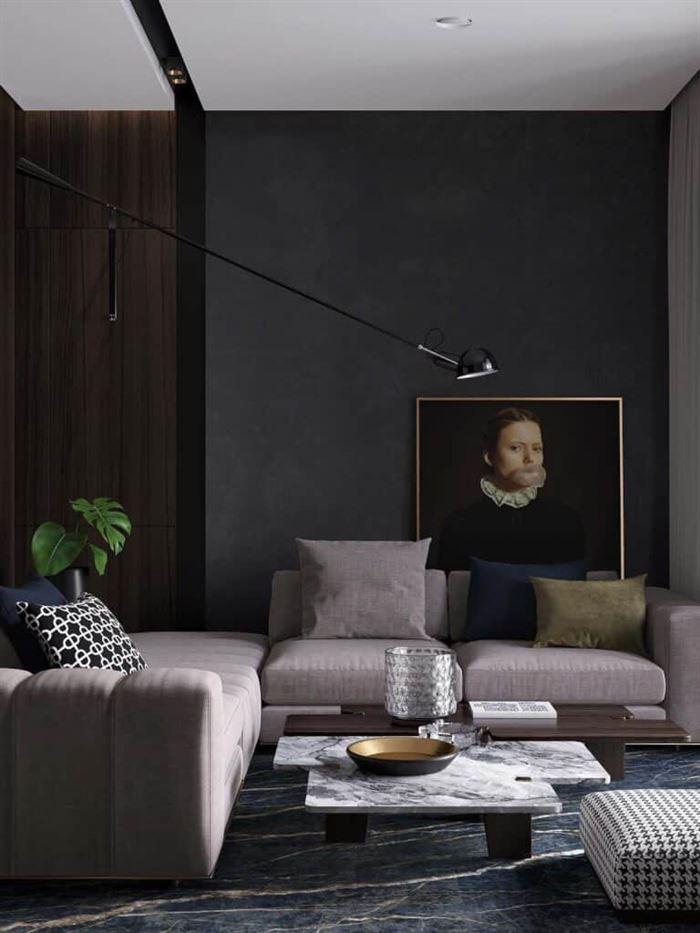 kücük-daire-dekorasyonlari koyu tonlarla küçük diare dekorasyon stilleri - koyu renkli kucuk daire dekorasyonlari 1