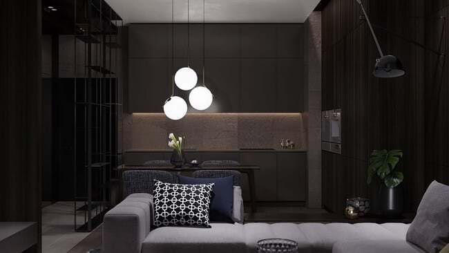 kücük-daire-dekorasyonlari koyu tonlarla küçük diare dekorasyon stilleri - koyu renkli kucuk daire dekorasyonlari 4