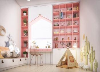 Dekoratif Pembe Renkli Tasarımlı Odalar