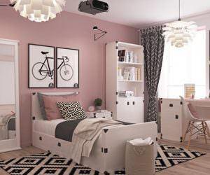 Kız Çocuklarınız İçin Dekoratif Pembe Renkli Tasarımlı Odalar
