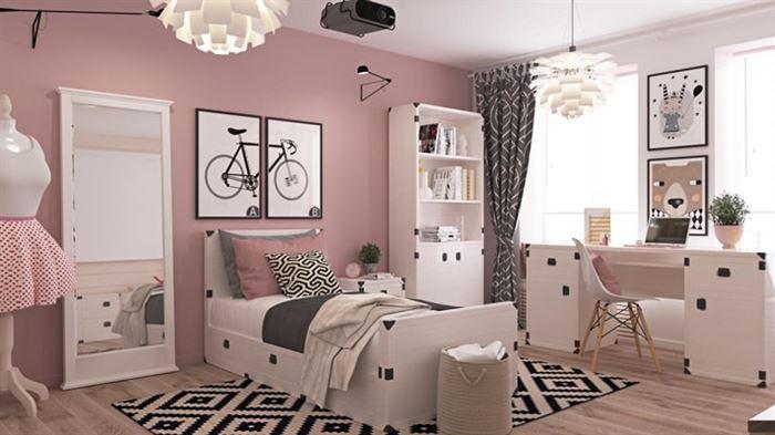 pembe kiz cocuk odasi dekorasyon stilleri 4