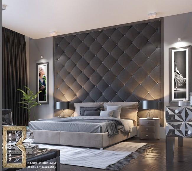 Yatak Odası Yatak Arkası Duvar Dekorasyon Fikirleri 18