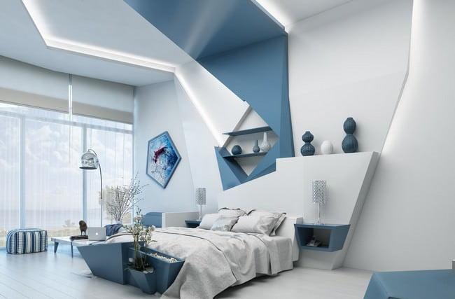 yatak odası yatak arkası duvar dekorasyon fikirleri - yatak odasi duvar dekorasyonlari 9 - Yatak Odası Yatak Arkası Duvar Dekorasyon Fikirleri