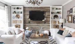 tvnizi daha dikkat Çekici hale getirecek 12 arka plan - tv arkasi duvar dekorasyonlari 7 255x150