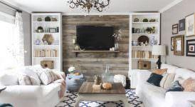 tvnizi daha dikkat Çekici hale getirecek 12 arka plan - tv arkasi duvar dekorasyonlari 7 274x150
