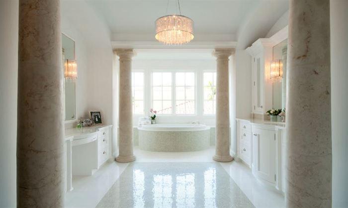 açık renkli modern banyo dekorasyonları