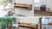 Duvara Monte Modern Çalışma Masası Tasarımları