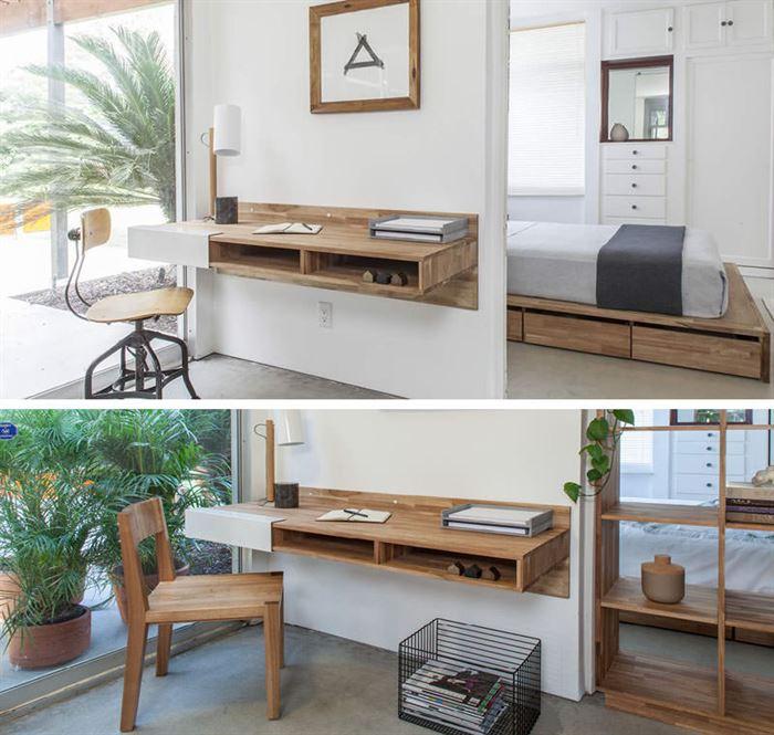 duvara monte modern Çalışma masası tasarımları - duvara monta calisma masasi modelleri 16