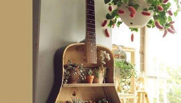 Eski Gitarınızı Nasıl Raf Sistemine Dönüştürebilirsiniz