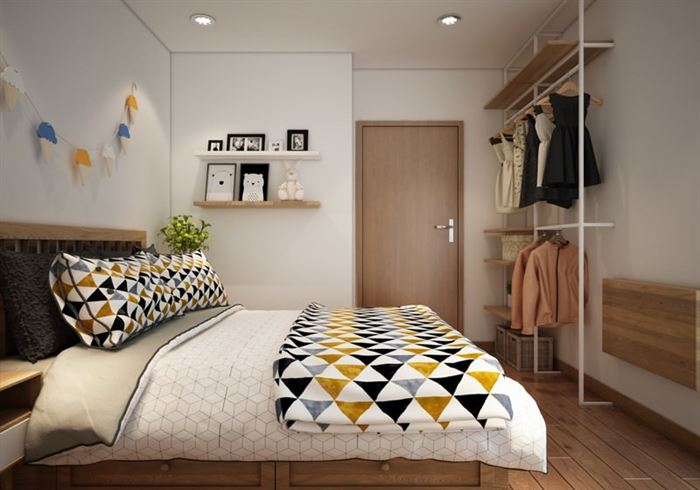 iskandinav-stili-daire-dekorasyonu küçük modern İskandinav stili daire dekorasyonu - iskandinav tarzi yatak odasi dekorasyonu 2