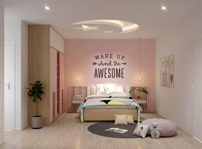 pembe kiz cocuk odasi dekorasyon fikirleri 1