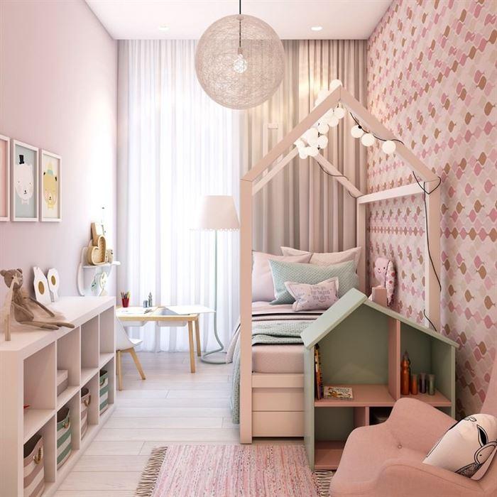 Pembe Renk Genç Odası Dekorasyonları pembe kiz cocuk odasi dekorasyon fikirleri 10