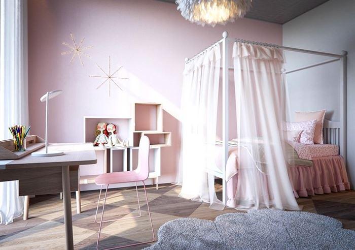 Pembe Renk Genç Odası Dekorasyonları pembe kiz cocuk odasi dekorasyon fikirleri 12