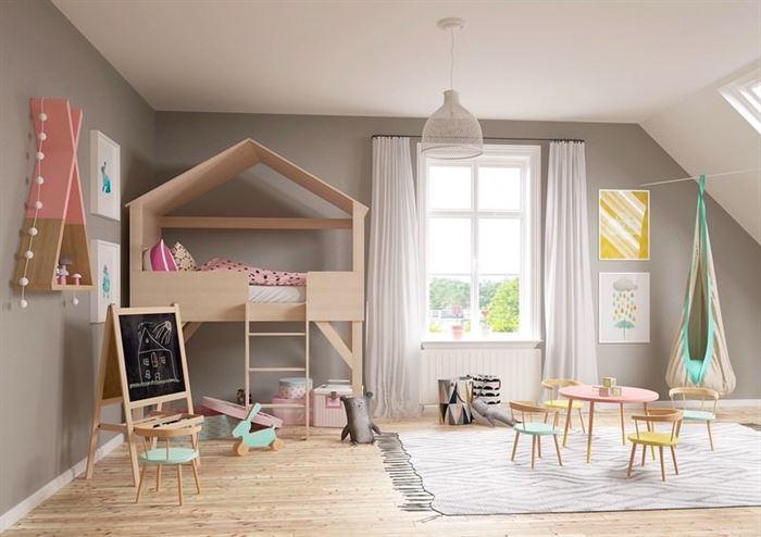 pembe kiz cocuk odasi dekorasyon fikirleri 13
