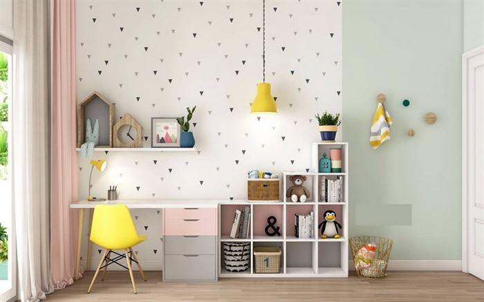 pembe kiz cocuk odasi dekorasyon fikirleri 15