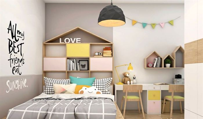 Pembe Renk Genç Odası Dekorasyonları pembe kiz cocuk odasi dekorasyon fikirleri 16