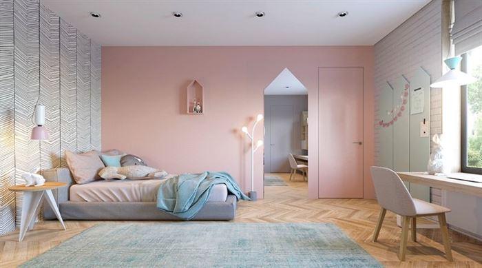 Pembe Renk Genç Odası Dekorasyonları pembe kiz cocuk odasi dekorasyon fikirleri 17