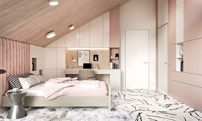 Pembe Renk Genç Odası Dekorasyonları pembe kiz cocuk odasi dekorasyon fikirleri 20