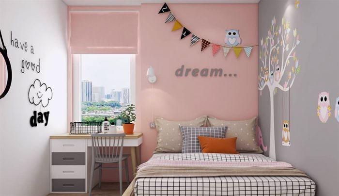 Pembe Renk Genç Odası Dekorasyonları pembe kiz cocuk odasi dekorasyon fikirleri 3 1024x591