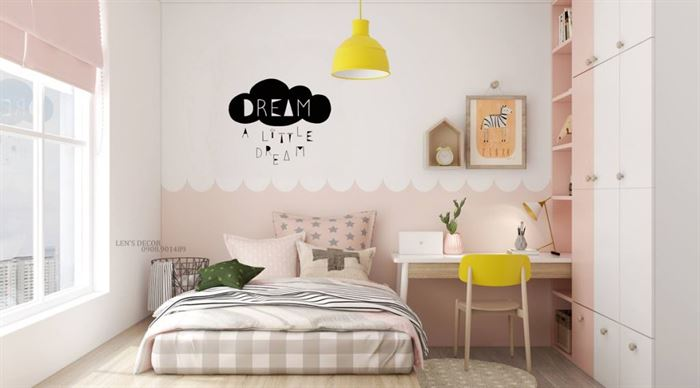 Pembe Renk Genç Odası Dekorasyonları pembe kiz cocuk odasi dekorasyon fikirleri 5 1024x568