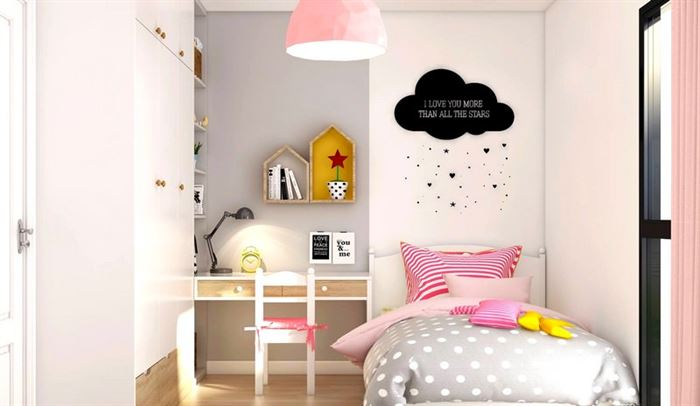 Pembe Renk Genç Odası Dekorasyonları pembe kiz cocuk odasi dekorasyon fikirleri 9