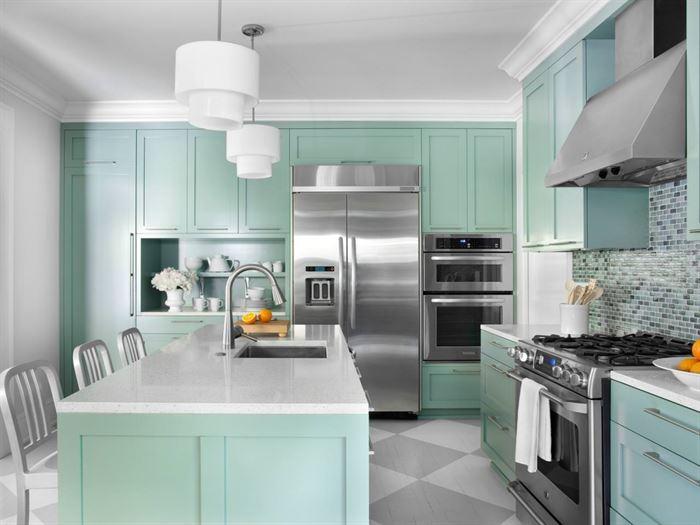 küçük evlerde kullanılan renkler yesilin tonlarini dekorasyonda kullanma