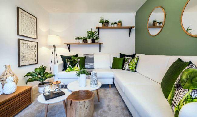 Modern-yesil-ev-dekorasyon