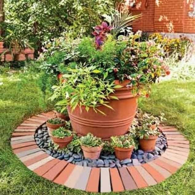 Tuğlalar ile Bahçe Süsleme Fikirleri tuğlalar ile bahçe süsleme fikirleri - tuglalar ile dekoratif bahce susleme fikirleri 5