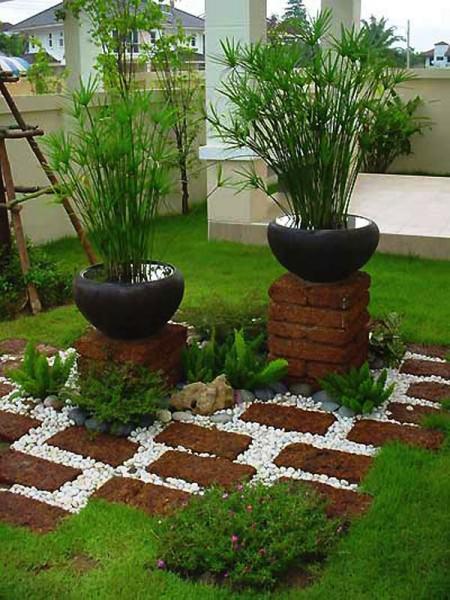 Tuğlalar ile Bahçe Süsleme Fikirleri