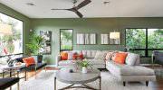 Muhteşem Yeşil Renkli Oturma Odası Dekorasyon Fikirleri
