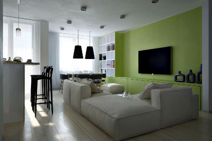 Yeşil Renkli Oturma Odası Dekorasyon Fikirleri