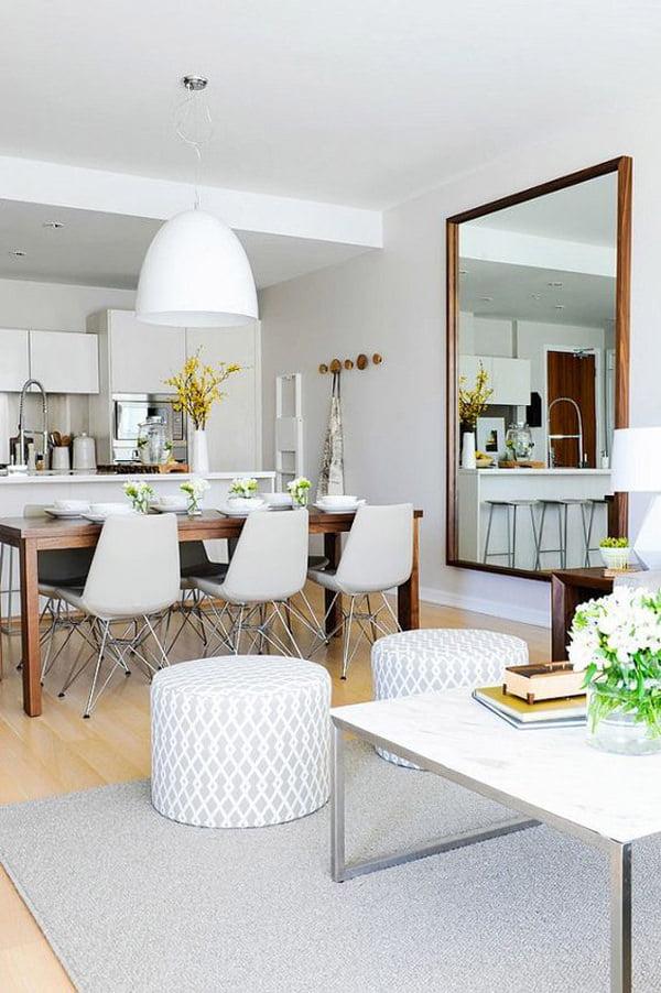 yemek-odasi-buyuk-boy-duvar-aynasi evinizi büyük gösterecek duvar ayna modelleri - yemek odasi buyuk boy duvar aynasi