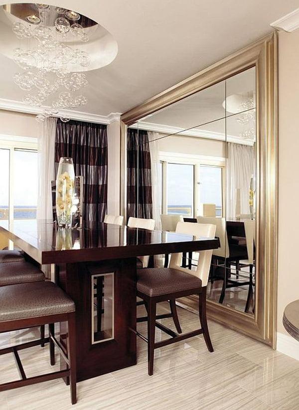 yemek-odasi-buyuk-dubar-ayna-modeli evinizi büyük gösterecek duvar ayna modelleri - yemek odasi buyuk dubar ayna modeli