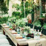 bahçe davet masası dizaynı