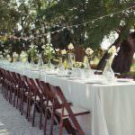 bahçe masa dekoru