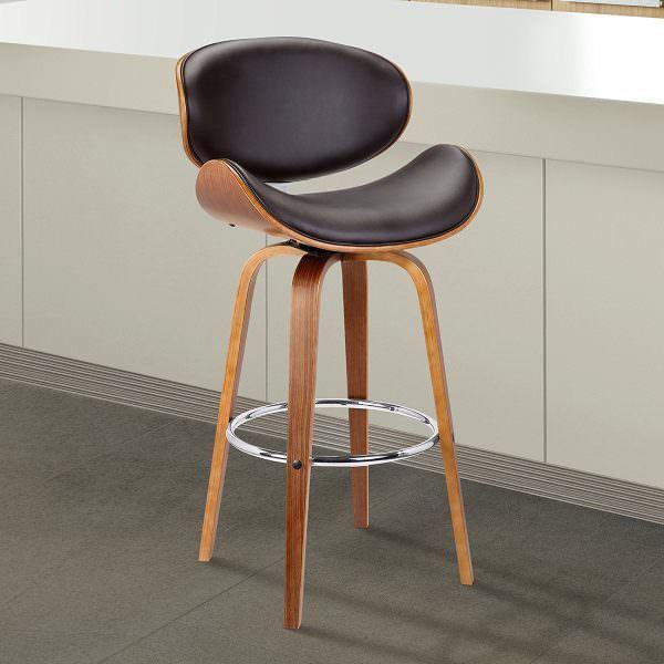 modern ahşap ayaklı yüksek sandalye ada mutfak İçin yüksek bar tipi tabure sandalye modelleri - ahsap bar sandalye modelleri