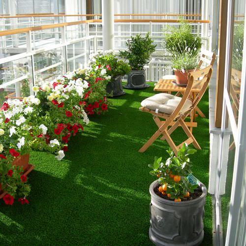 balkon için yapay çim
