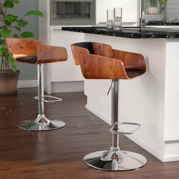 ahşap bar tipi sandalye