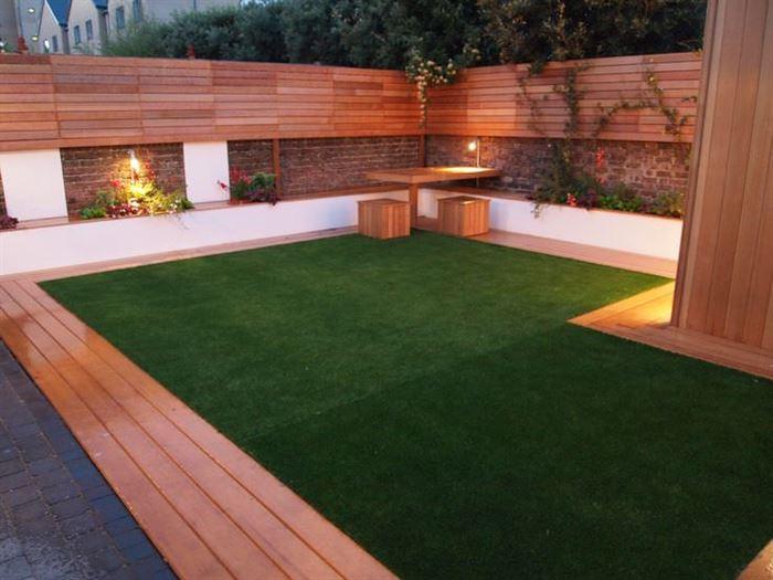 teras çim modelleri yapay doğal olmayan suni Çim kullanımı - teras yapay suni cim yapma