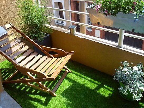 balkon suni çimleri