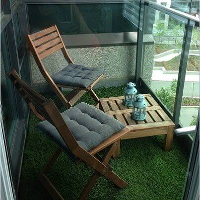 balkon suni çim modelleri