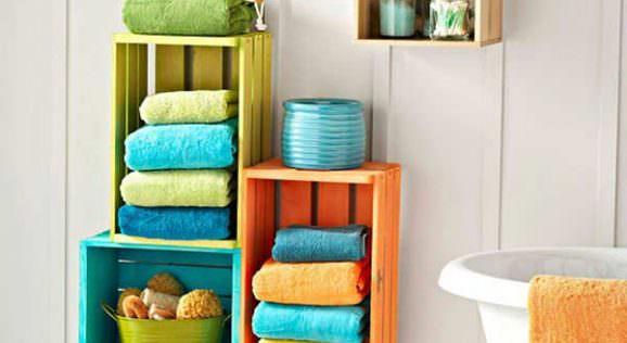 en yaratıcı banyo havlusu depolama fikirleri banyo-havluluk-aksesuar-raflari