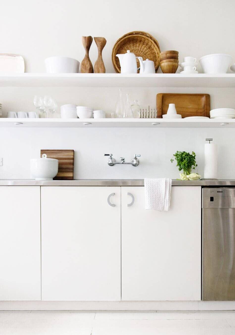 mutfak-acik-raf-duzenleme açık mutfak raflarınızı nasıl düzenleyebilirsiniz - mutfak acik raf duzenleme