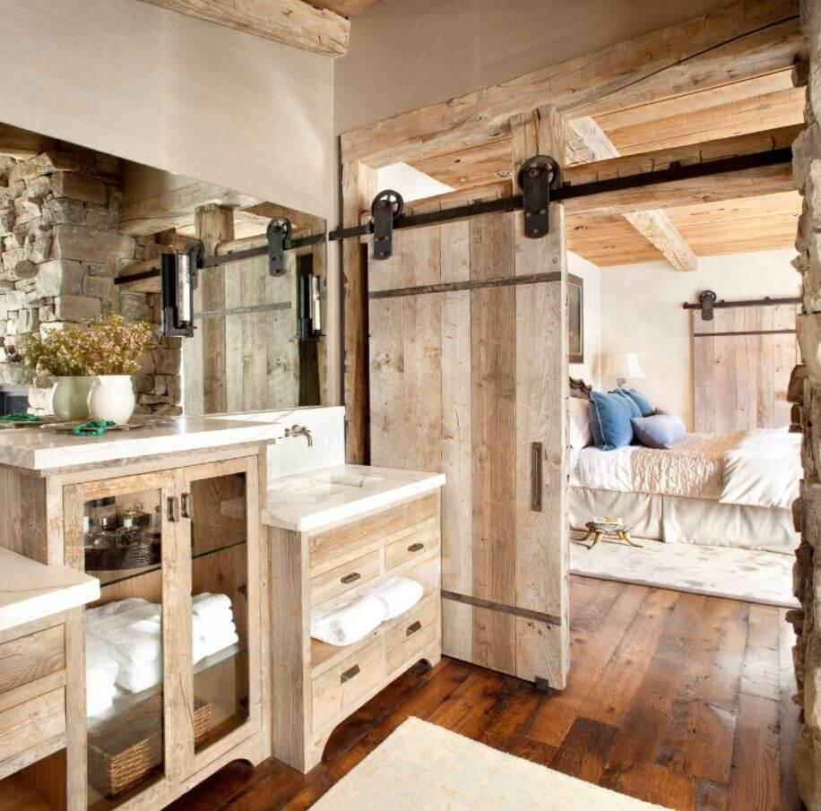 doğanın güzelliğinden esinlenen rustik banyo fikirleri - Rustic banyo dekorasyon fikirleri