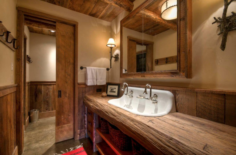 doğanın güzelliğinden esinlenen rustik banyo fikirleri - Rustik banyo dekorasyon fikirleri 1